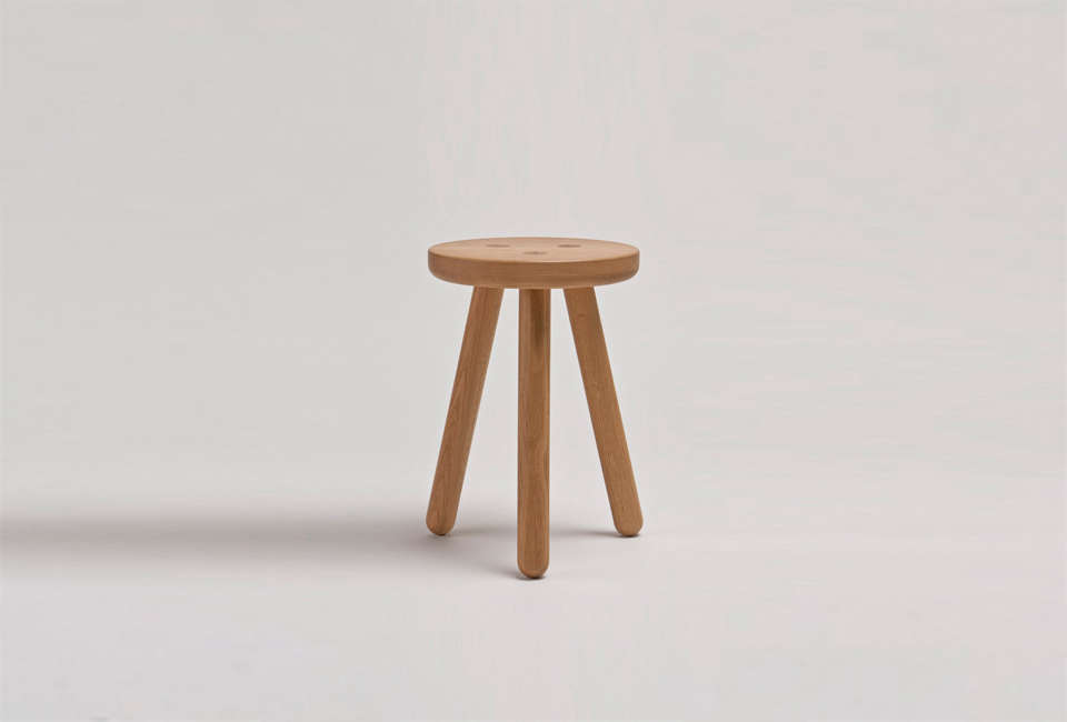 The Stool One in oak from Another Country; £