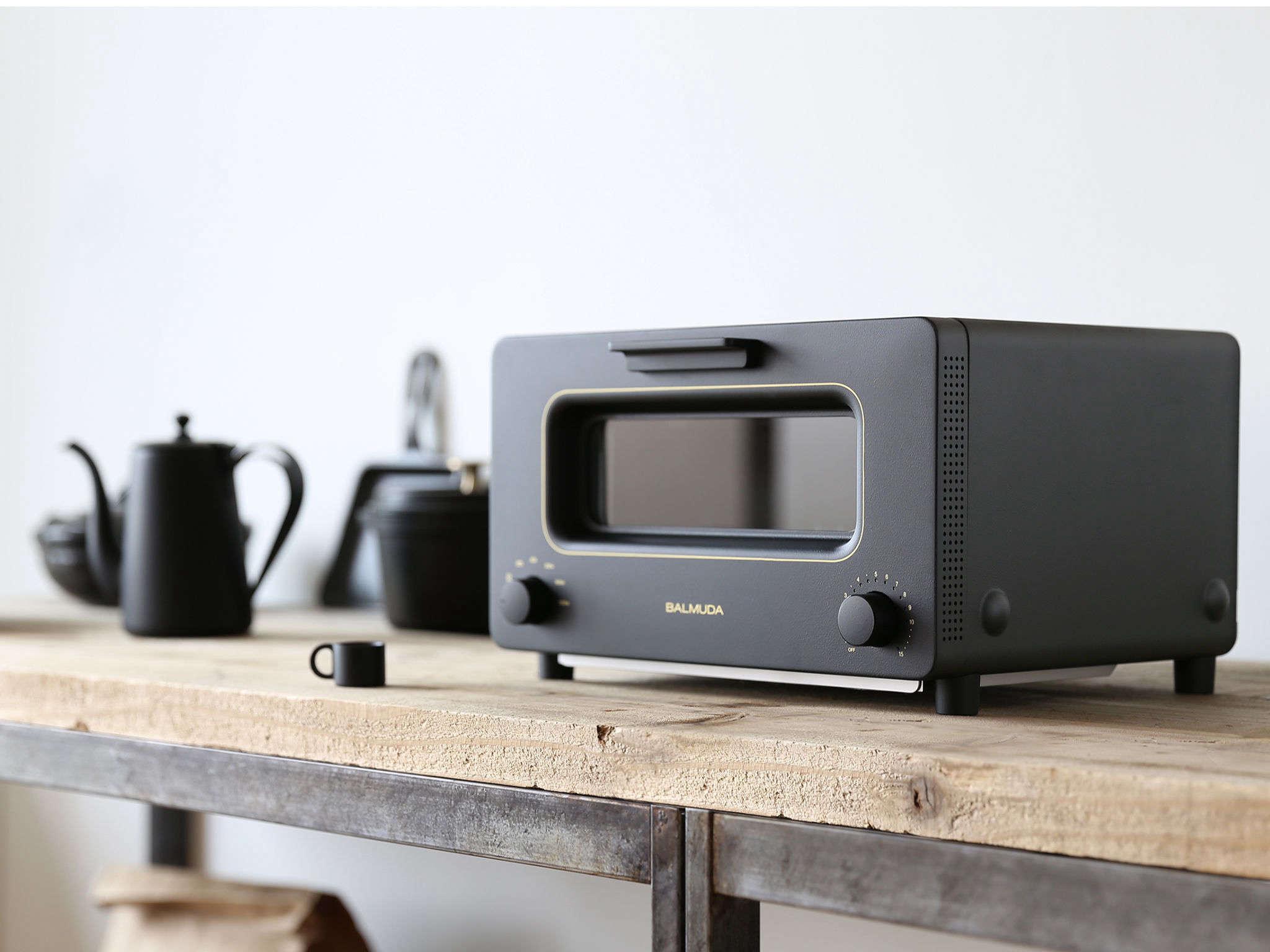 balmuda toaster oven in black 27