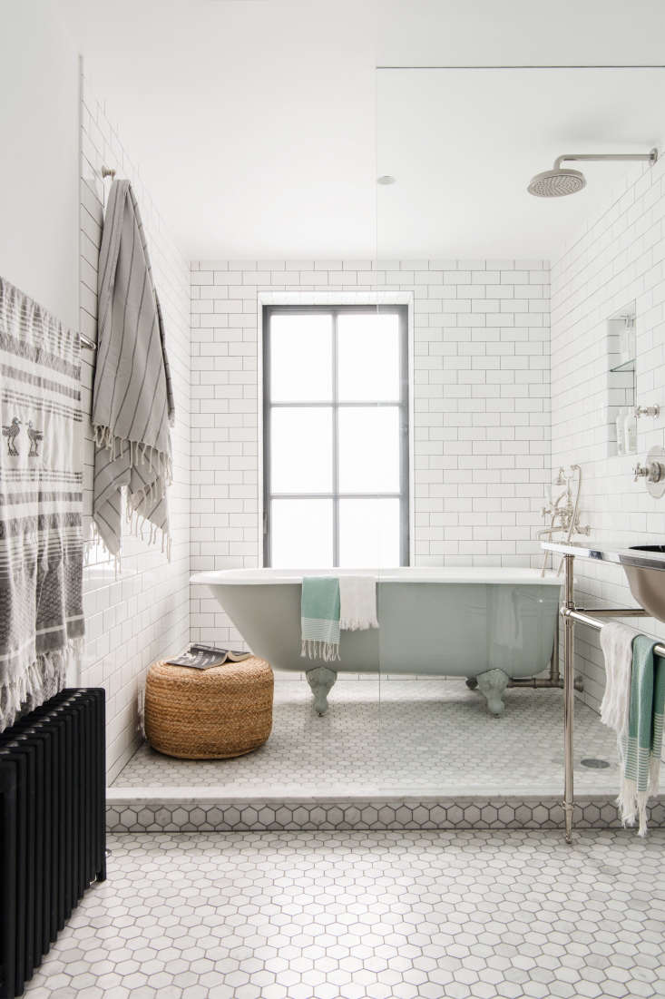 Tiled walls and ceilings inAn Unfussy Brooklyn Townhouse Remodel from Architect Elizabeth Roberts; photograph byDustin Aksland, courtesy of Elizabeth Roberts.