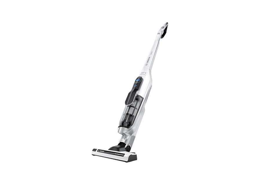 The Bosch Athlet Cordless Handstick Vacuum Cleaner can sneak under furniture by lying flat, weighsa little over 7 pounds, has an 00 watt motor, and is $649 fromBosch.