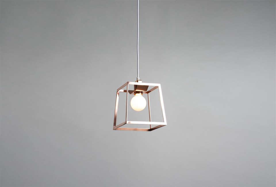 The Burkelman Frame Pendant Light in copper; $400 for the medium size from Burkelman.