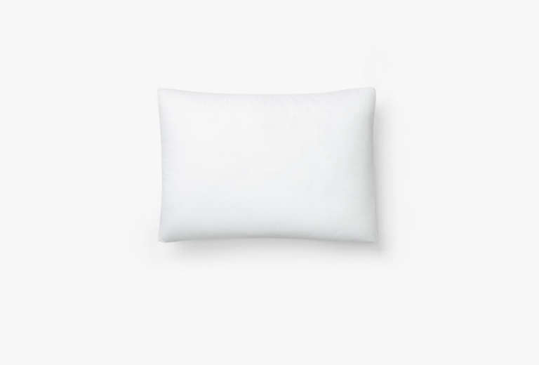 The Casper pillow is sheathed in a 0 percent cotton percale cover, which feels cool to the touch all night long. The pillow is made of hypoallergenic materials, has a three-year limited warranty, and ships free anywhere in the US and Canada.