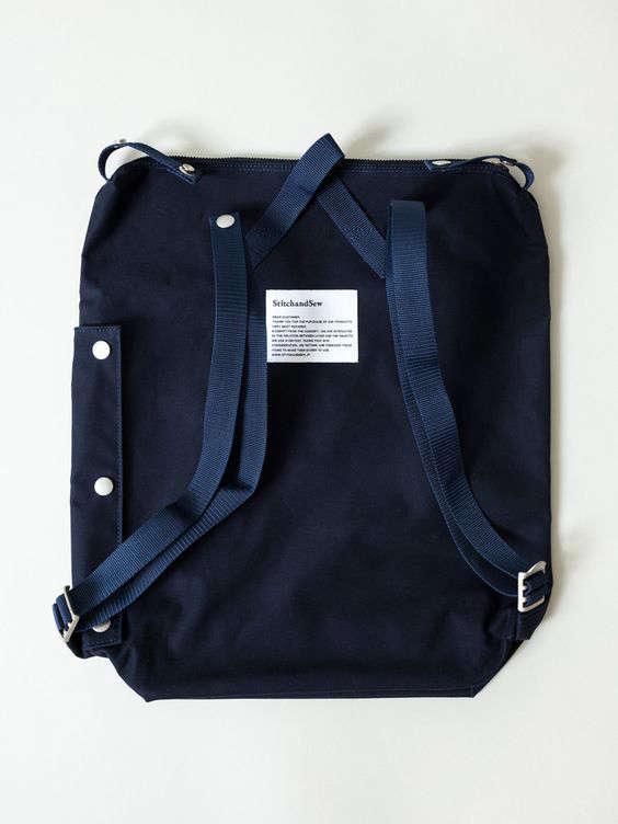 convertable canvas bag backpack japan indigo 12
