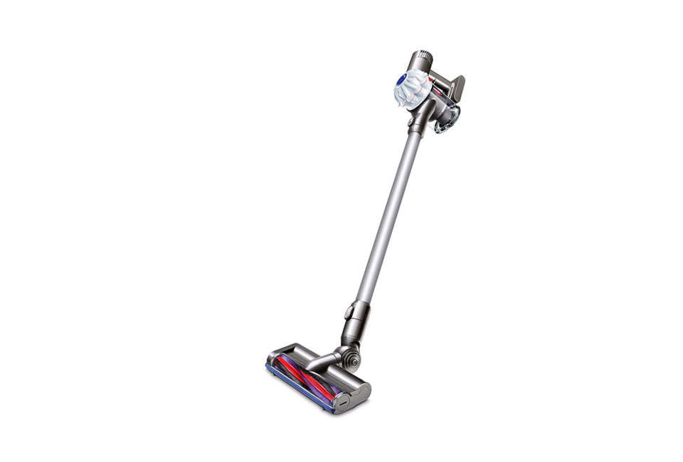 It may look like a propfrom the 84 Ghostbusters movie, but the Dyson V6 Cord-Free Vacuum can be used to clean hard to reach spaces high and low, has a 0W motor, and weighs 4.5 pounds; $9.99 from Dyson.