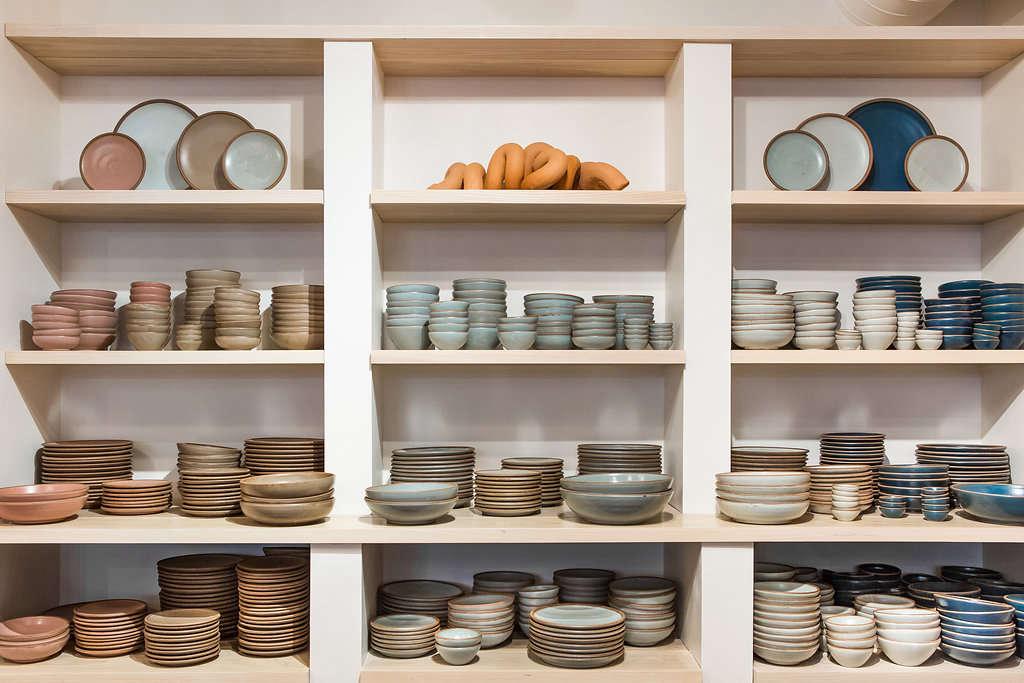east fork pottery on shelves 10