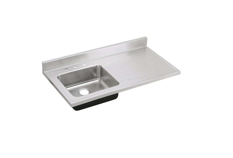 elkay lustertone stainless steel single bowl sink top 24
