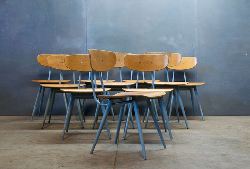 Steal This Look A CostConscious Retro Kitchen in London Factory 20 Birch Steel Dining Chair