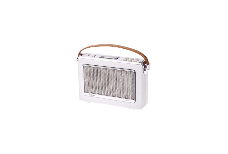 Steal This Look A CostConscious Retro Kitchen in London Goodmans Oxford Retro 60s DAB Radio in White