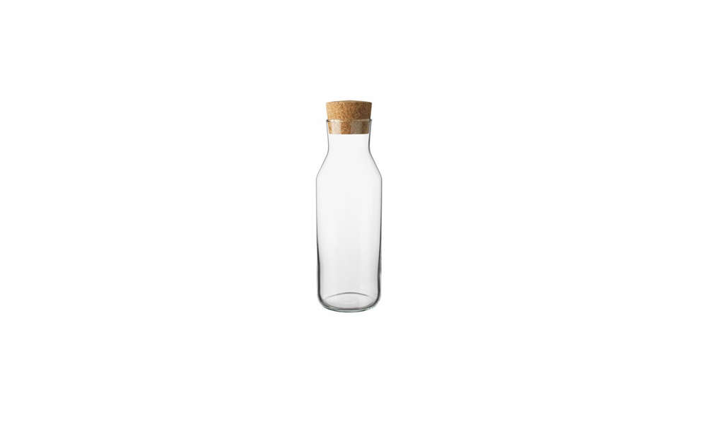 Margot has been known to give the 365+ carafe ($4.99) as a hostess gift; with a cork stopper, it keeps water and juice fresh and can fit in the fridge door.