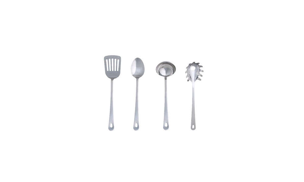 Izabella swears by the stainless steel Grunka four-piece kitchen utensils. At $5.99, it&#8