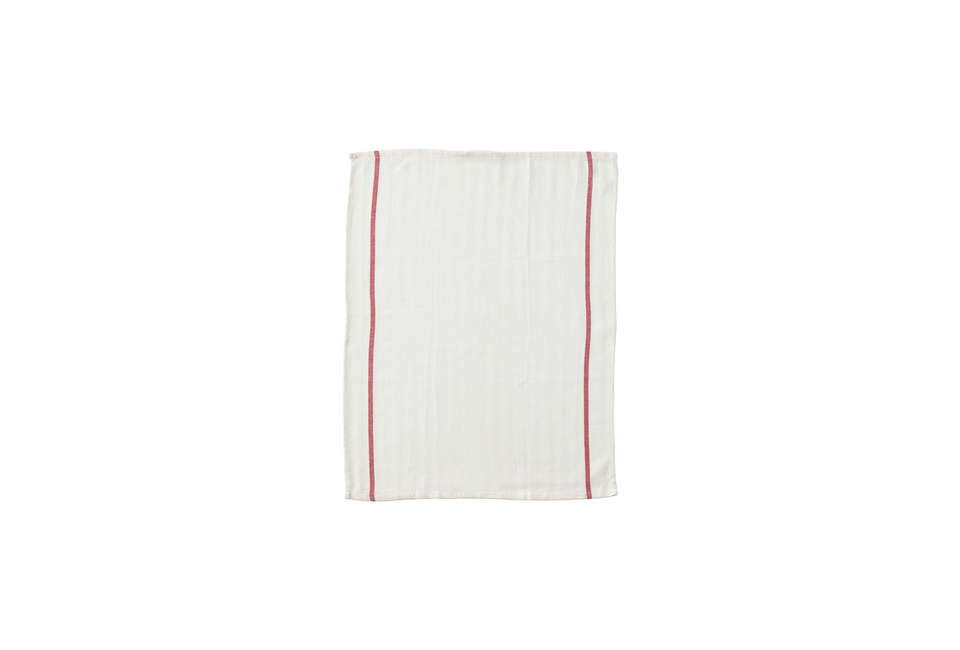The Tekla dish towels are my pick: The red-striped cotton towels look neat (and more expensive than they are), but at 79 cents each I don&#8