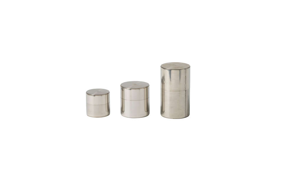 kaikado tea canisters in silver 30