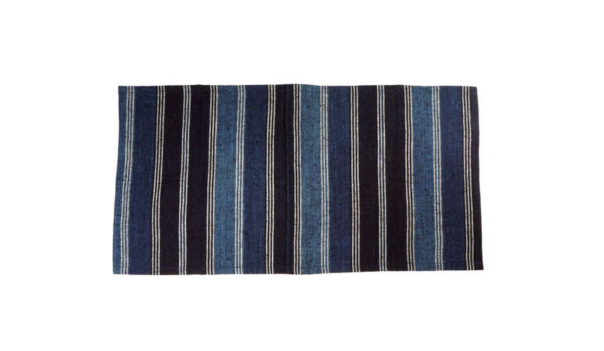 kofu curious corners stripe indigo placemat 12