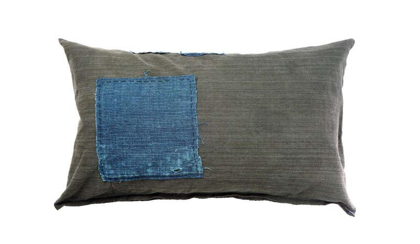 kofu curious corners indigo patch pillow 13