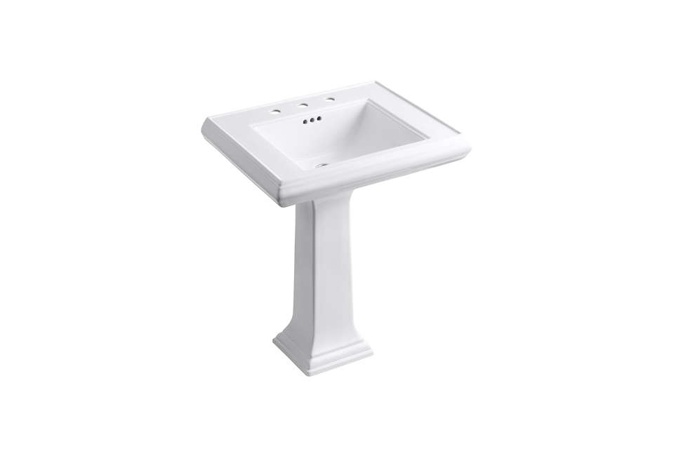 kohler memoirs single bowl pedestal fireclay sink 11