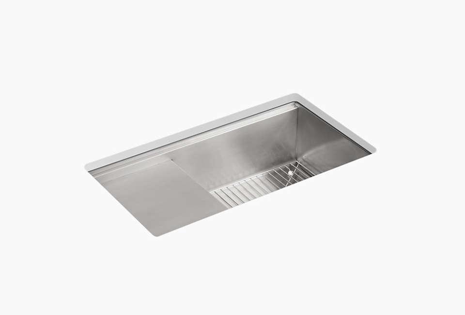 kohler stages undermount stainless steel kitchen sink 15