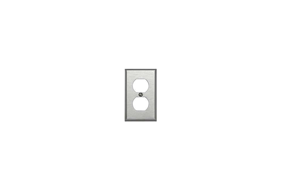 leviton stainless steel outlet wall plate 15