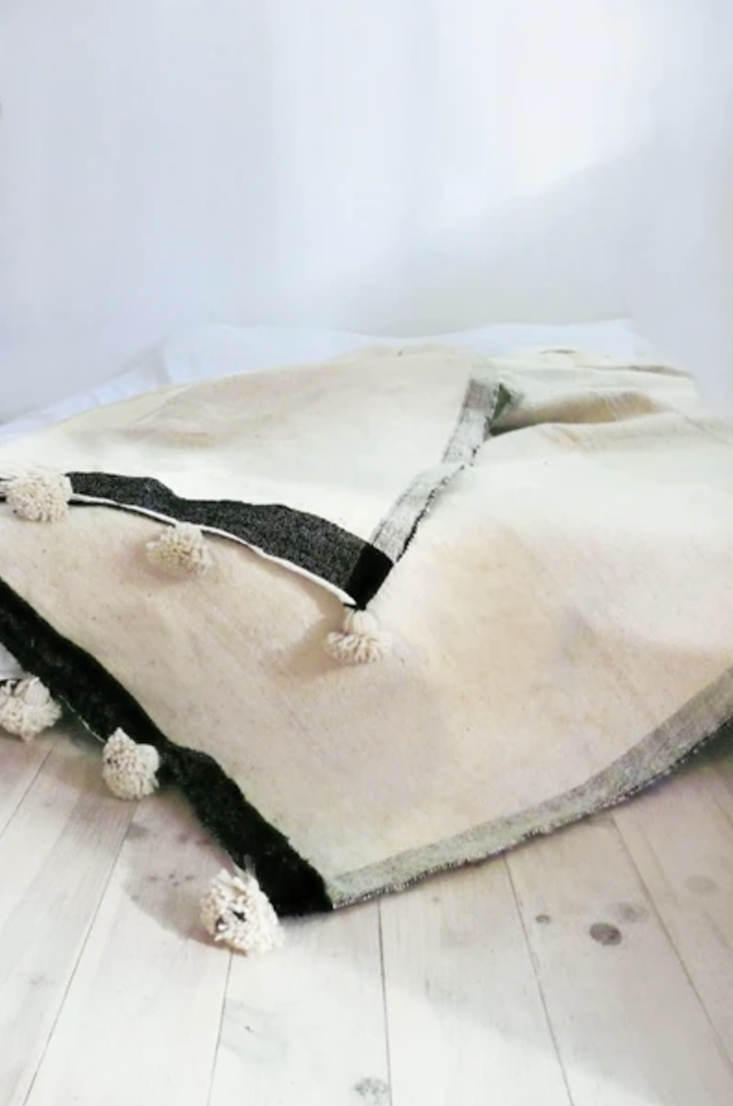 moroccan pom pom wool blanket by muima on remodelista obsessions 10