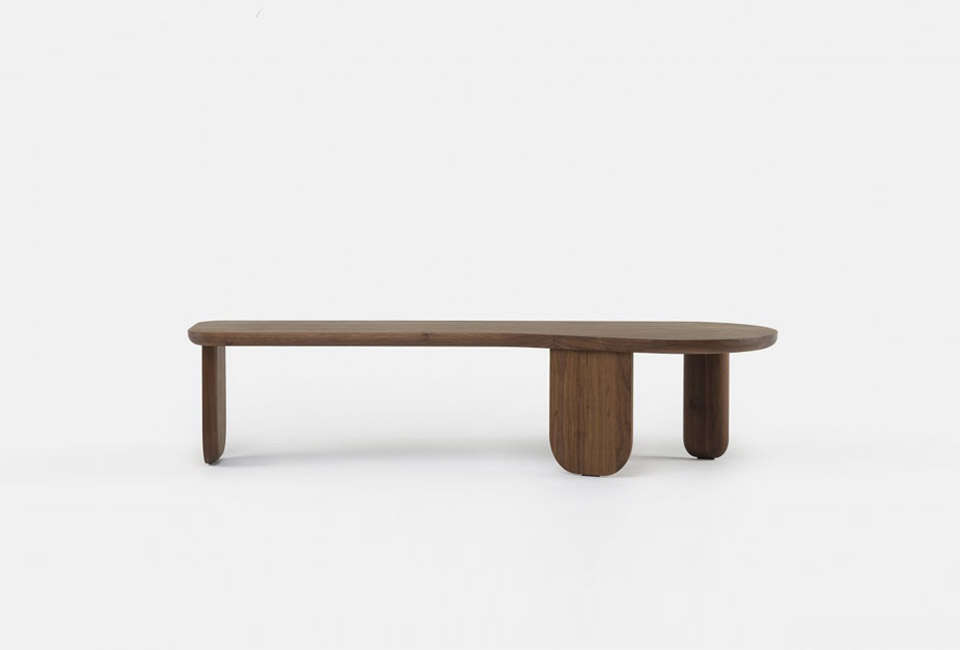 Steal This Look A Farmhouse Bedroom with Modern Furniture Nichetto Kim Long Table in Walnut