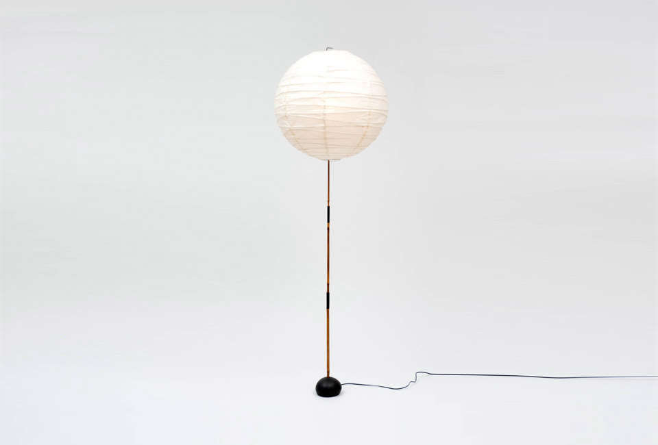 Steal This Look A Farmhouse Bedroom with Modern Furniture Noguchi Akari Floor Lamp