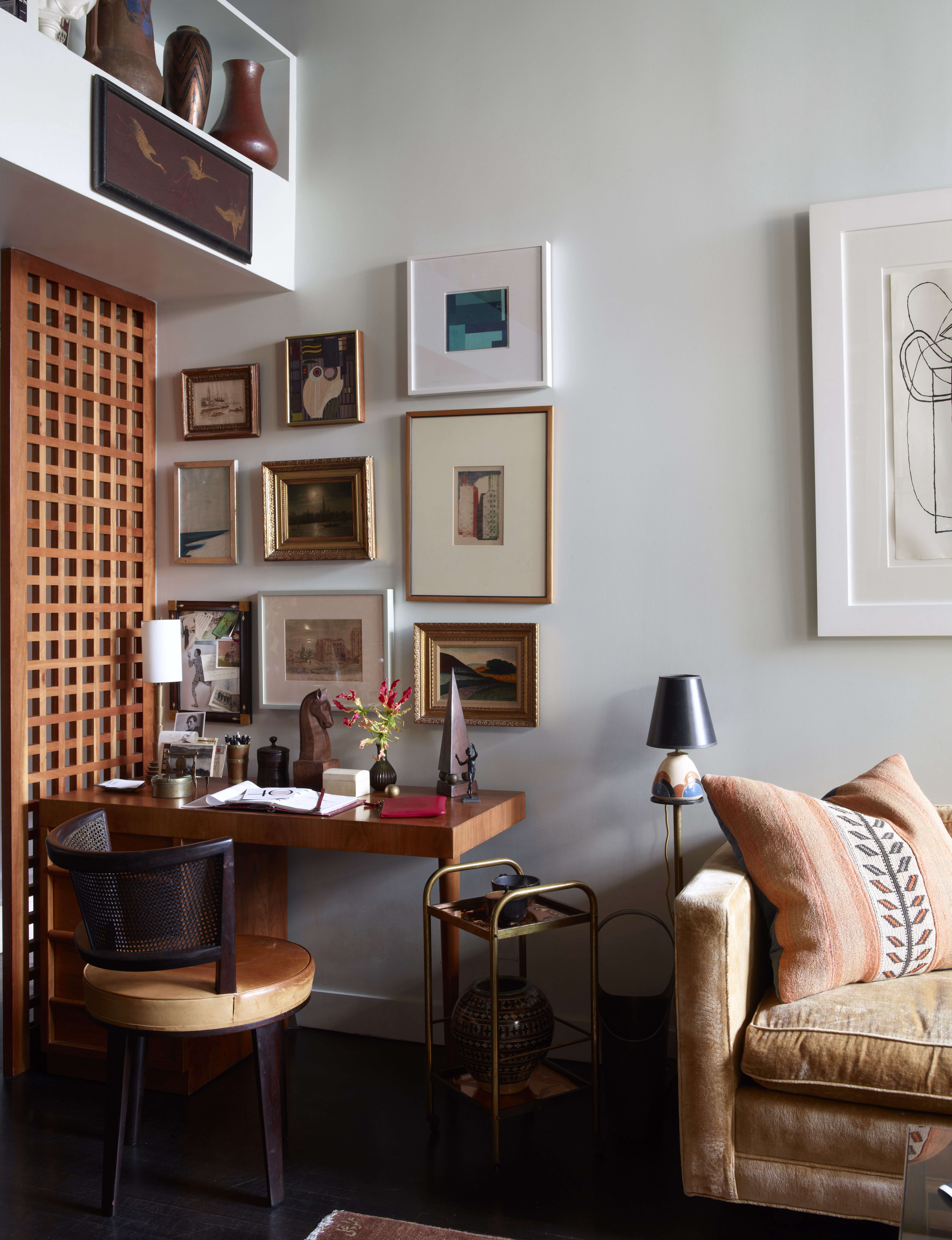 office space with gallery artwork wall alexandra loew 15