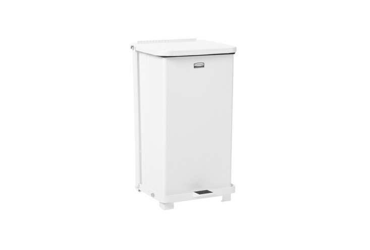 The Instant Kitchen Kit 20 Remodelista Favorites on Amazon Prime European style trash cans from American company Rubbermaid are available on Amazon. We like the Rubbermaid Commercial Defenders Step Trash Can for the kitchen; \$\183.60. SeeDesign Sleuth: Stylish Trash Bins from an Unlikely Source.