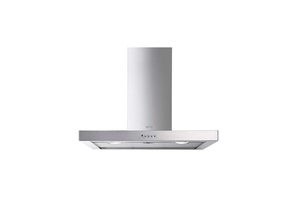Steal This Look A CostConscious Retro Kitchen in London Smeg Wall Mount Chimney Range Hood