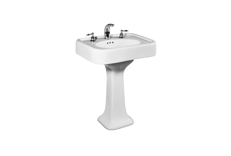 st. thomas creations liberty pedestal lavatory faucet 16