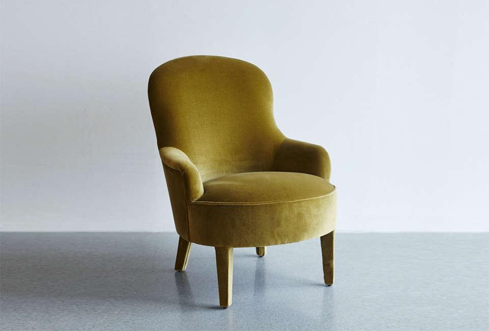 velvet olive armchair from artilleriet 21