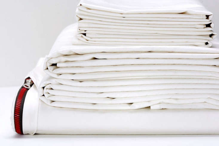 according to their literature, flaneur white sheets are never bleached. all bed 12