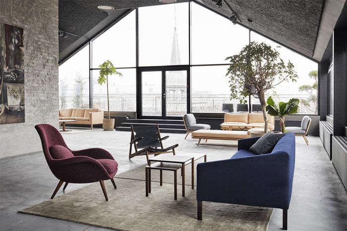 danish furniture brandfredericia recentlyunveiled its new rooftop showroom  11