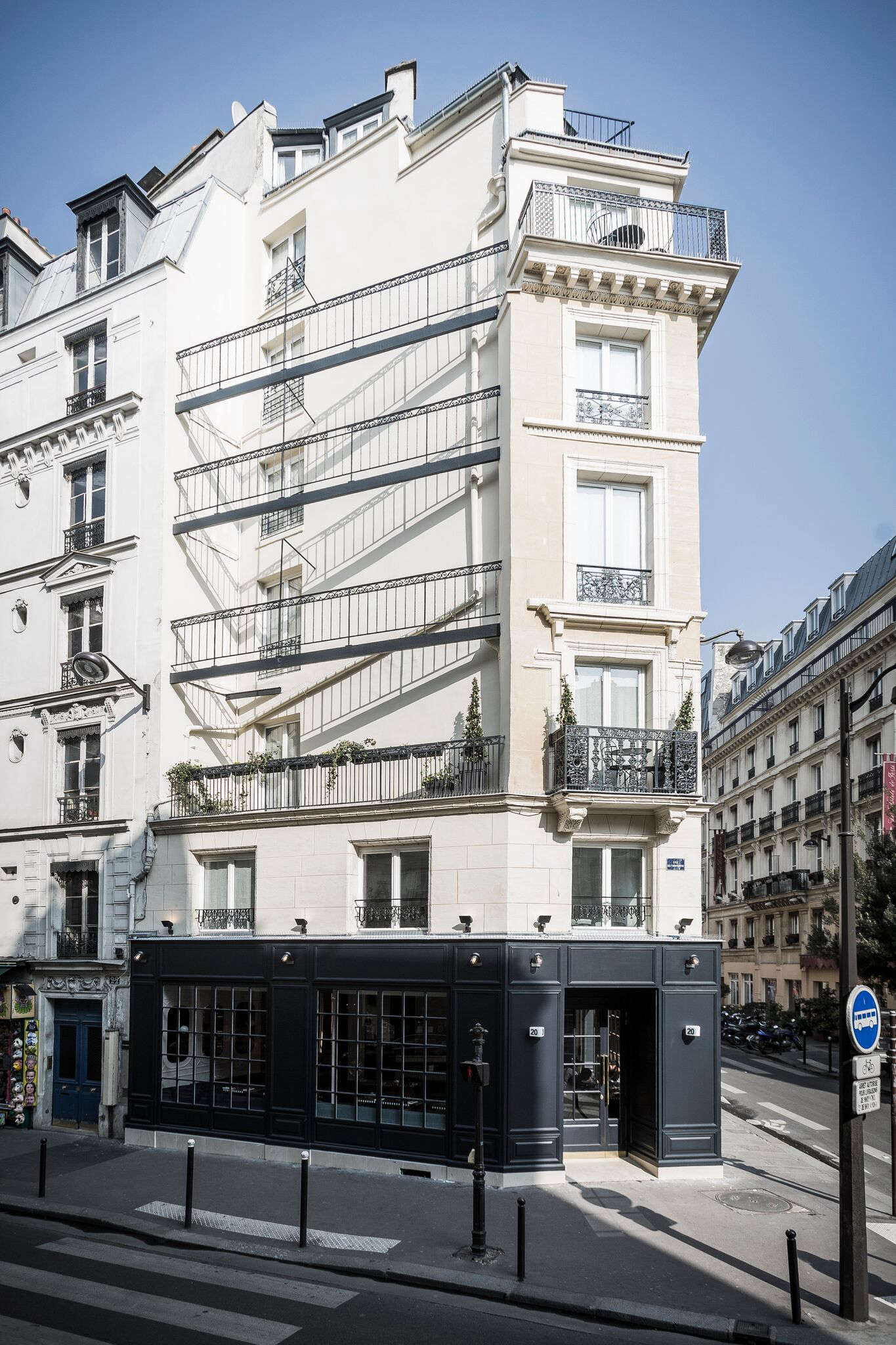 The building itself is black and white, and composed of a series of triangles. Rooms start at €0 ($7); go to Hotel Panache for more details.