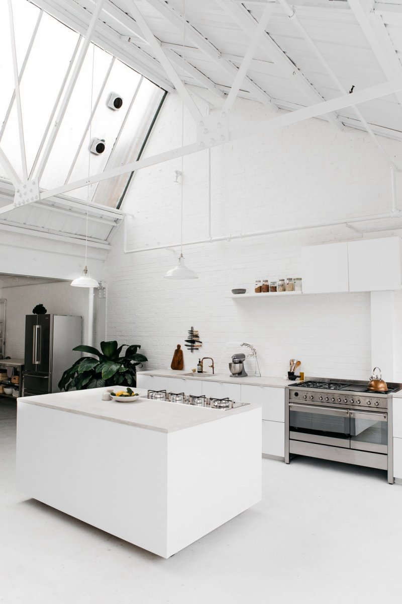 rye london a scandi inflected all white kitchen in london set in an old print w 18
