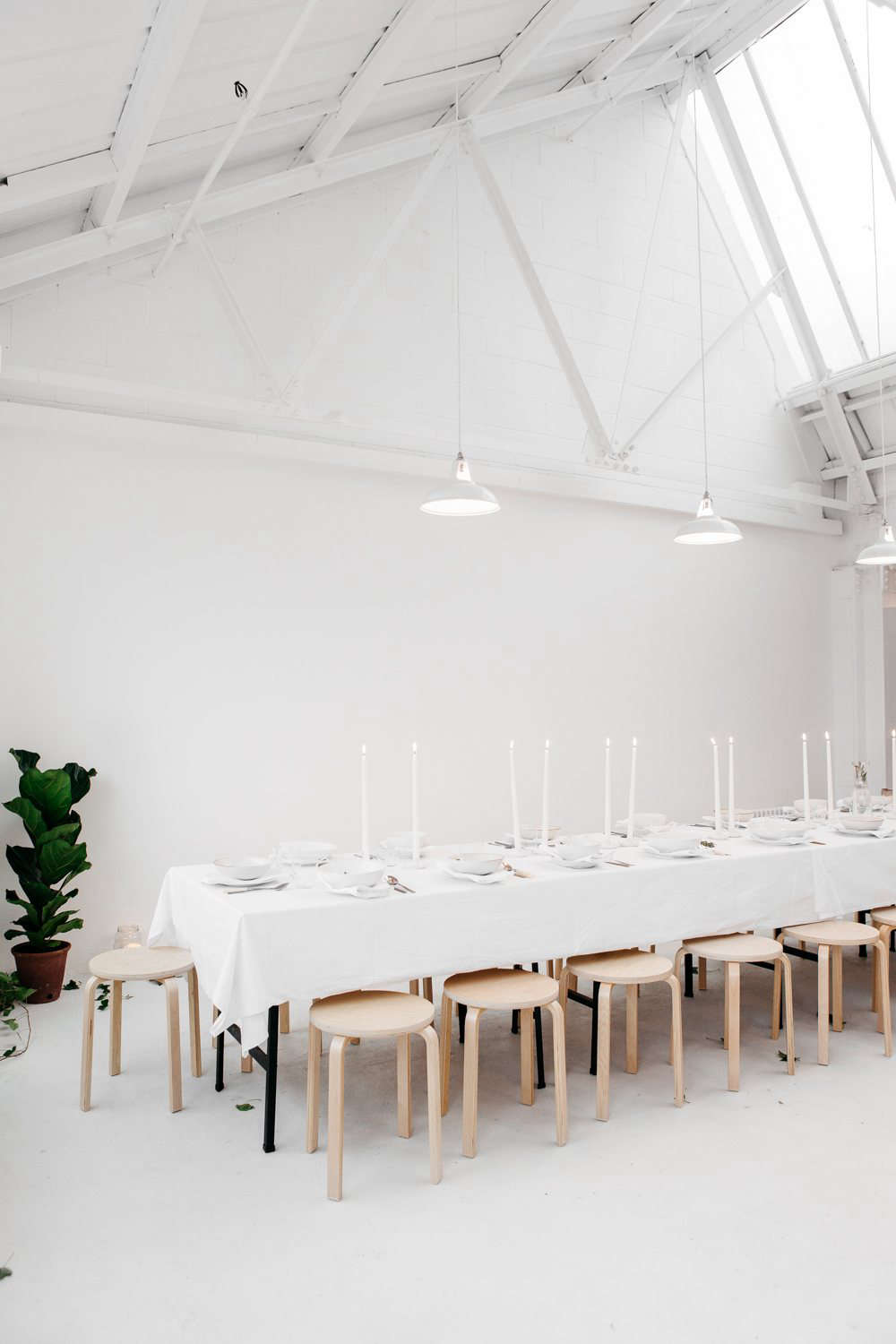 rye london kitchen's extra long diy dining table with ikea stools 25
