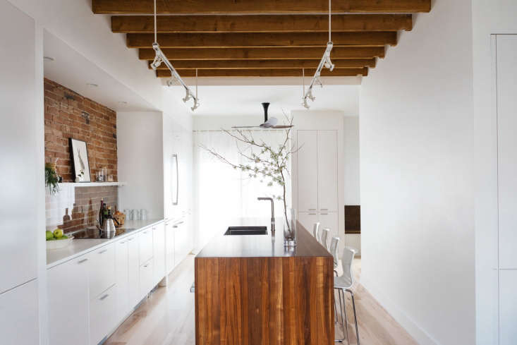 the original kitchen was crammed into a dim back corner. but greenawalt knew  10