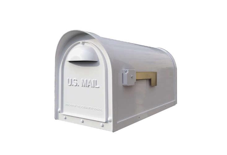 aluminum post mount rural mailbox 12