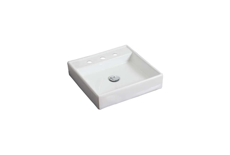 American Imaginations Square Vessel Bathroom Sink