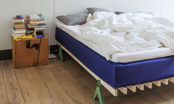 designed by stephan jecker, the simplon bed is made of two powder coated solid  12