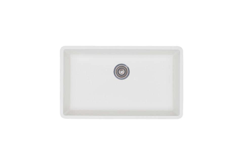 blanco precis super single bowl sink in white 13