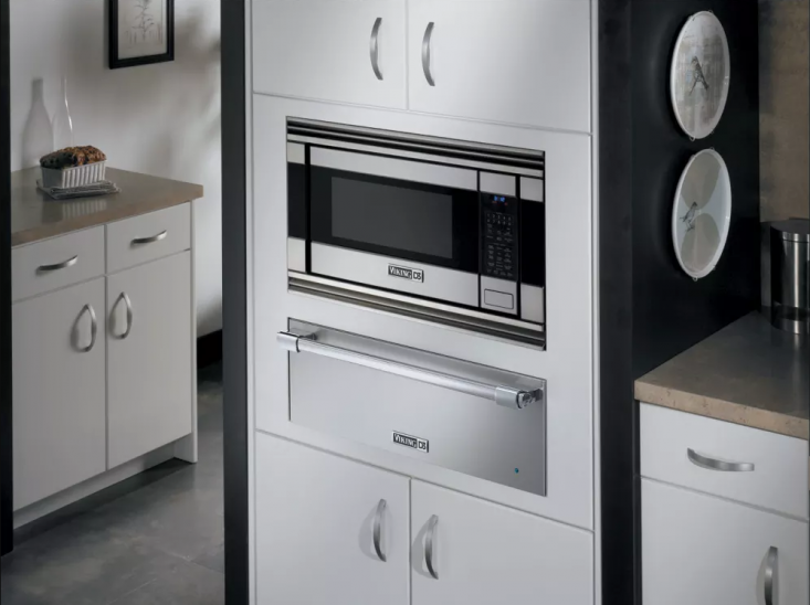 a built in viking microwave is a sleek, discreet (and expensive) option. 17