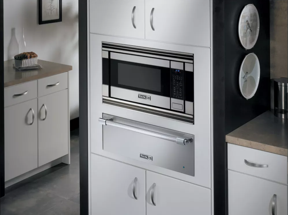 A built-in Viking Microwave is a sleek, discreet (and expensive) option.