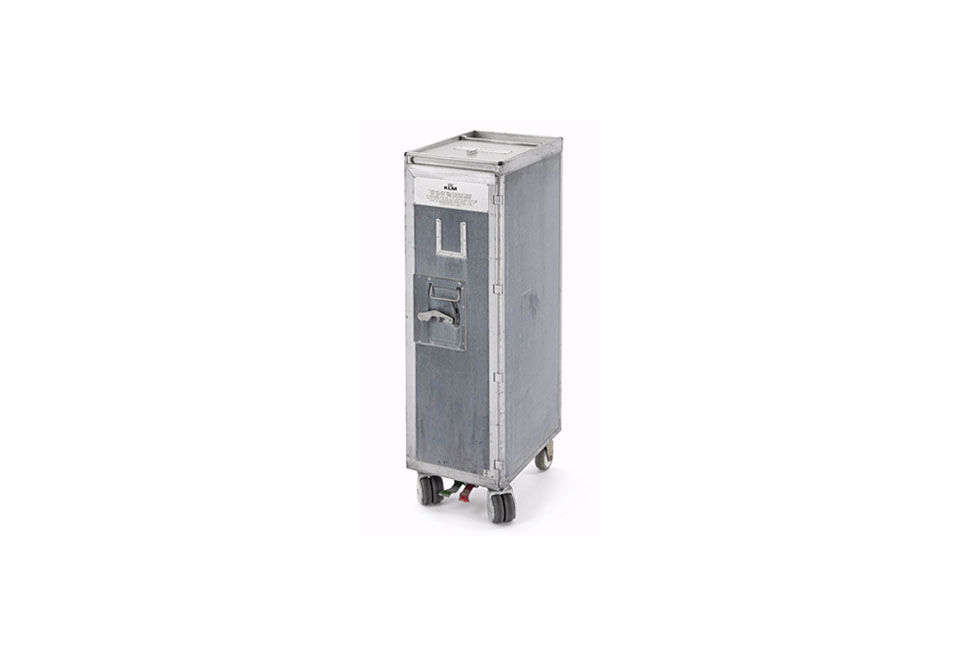 the container trolley bin is made of anodized aluminum with insulating material 11