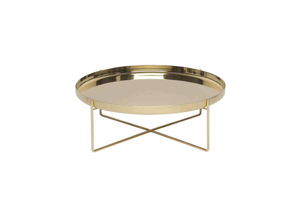 The e CM05 Habibi Side Table in Gold is £8 for the large size from Clippings. For more, see our post  Easy Pieces: Tray Tables.