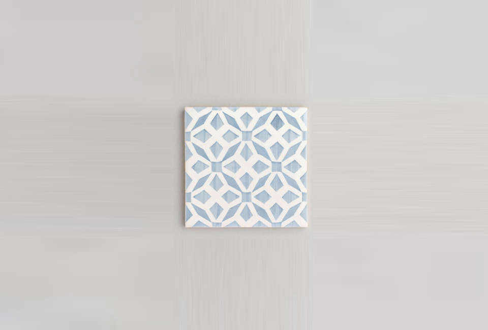 Everett  Blue HandPainted Portuguese Tiles via the UK portrait 3 20