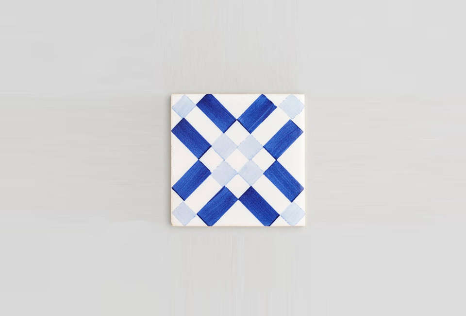 the tiles are made ofred clay from lisbon and individually hand cut. shown he 10