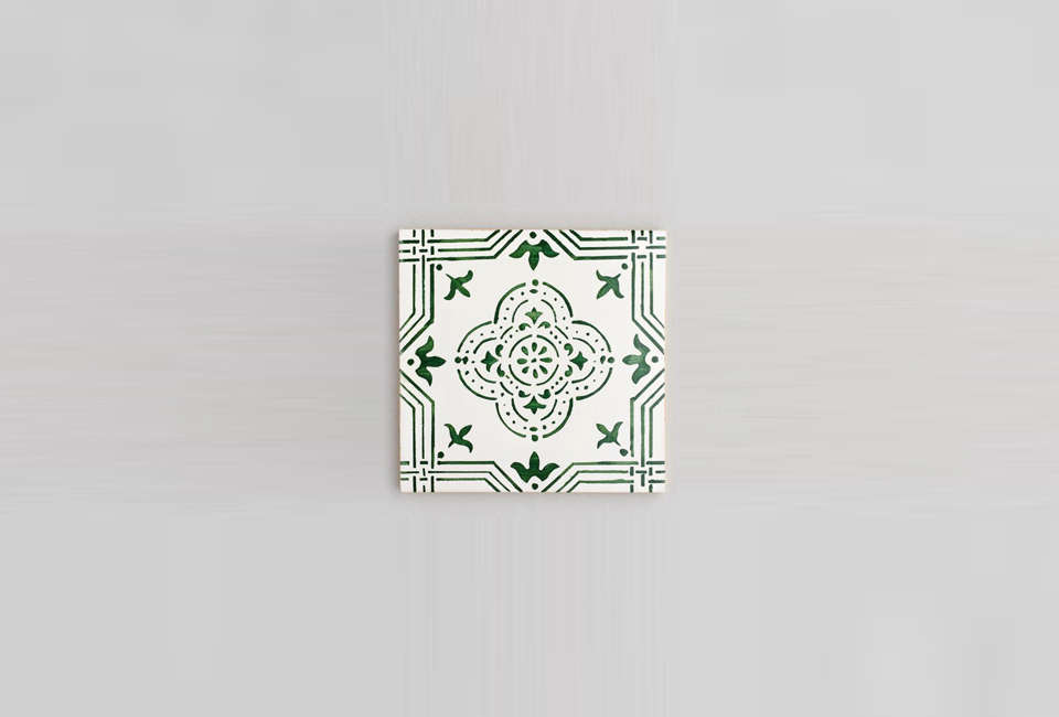 the mafra tile, with deeper green tones. 15