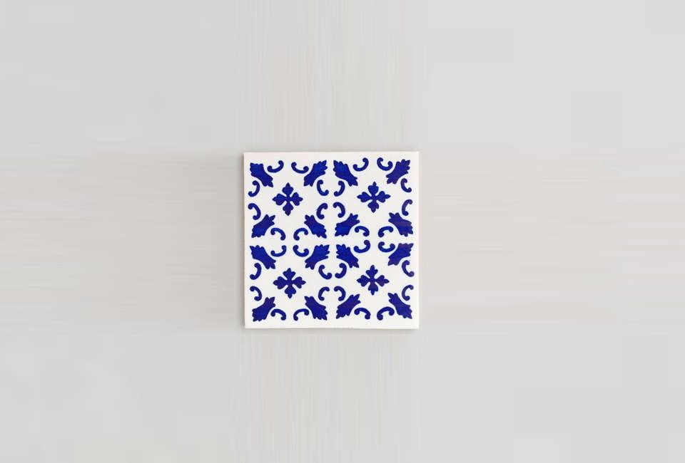 we like the deep blue, symmetric styleof the porto tile. 12