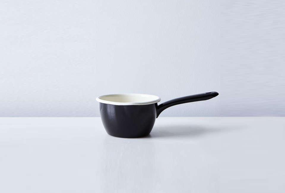 food52 dexam black enamel milk pan 9