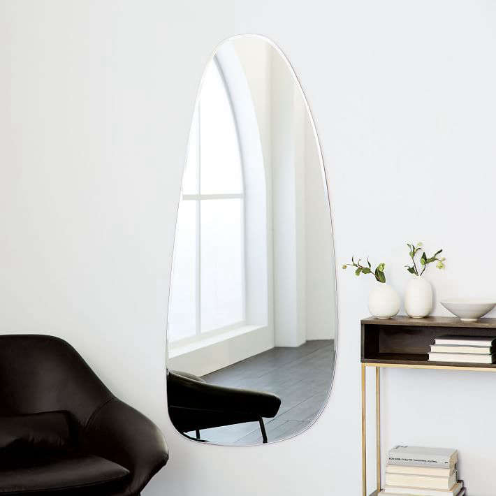 frameless asymmetrical floor mirror west elm 2 10