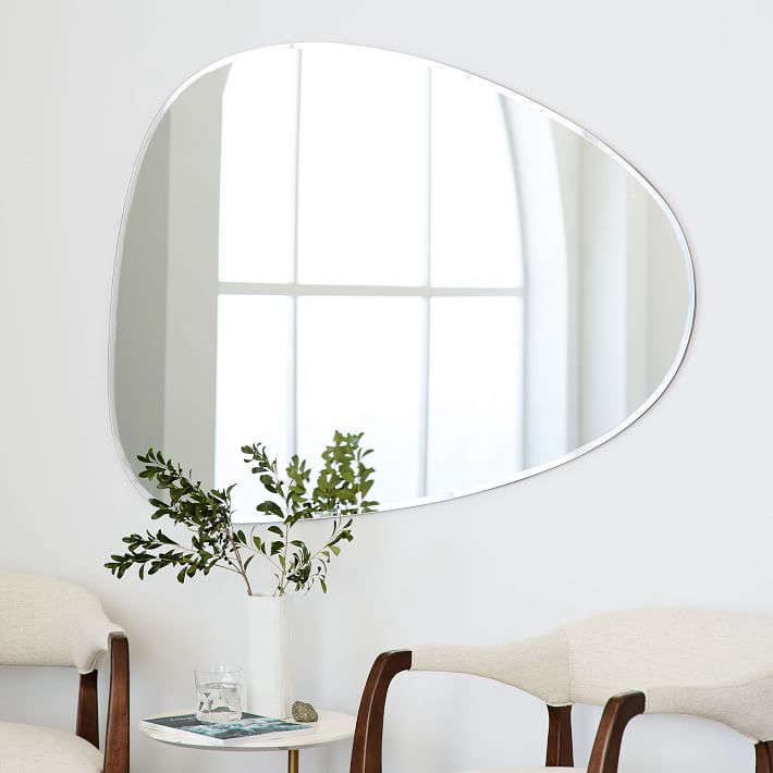 frameless asymmetrical wall mirror west elm 11